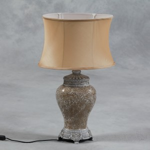 Gold Mosaic Lamp with Gold Oval Shade IN STOCK