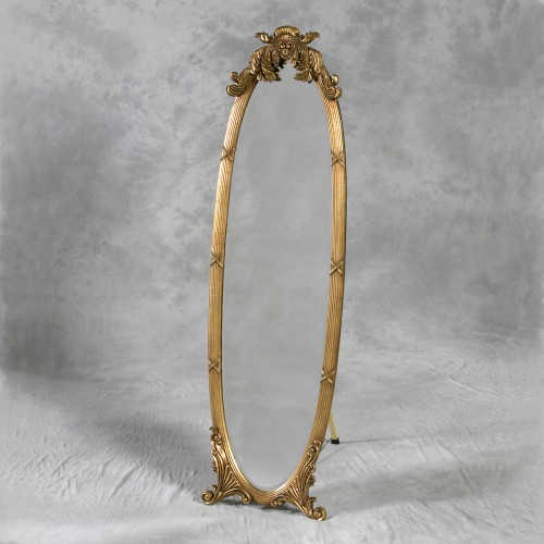 Gold Dressing Mirror on Stand IN STOCK