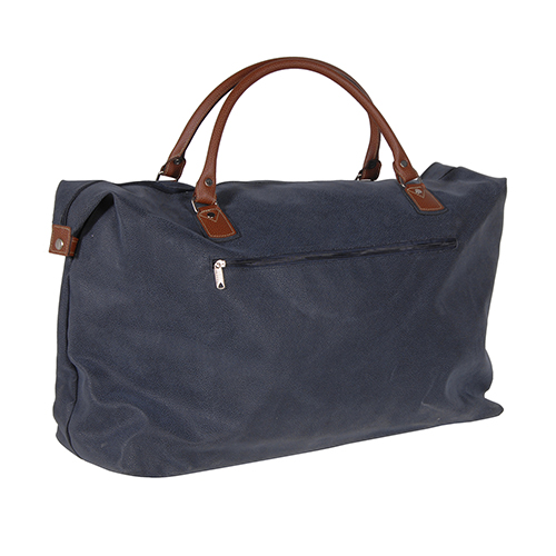 Large Blue/Tan Overnight Bag