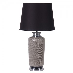 70's Chic Pattern Lamp Black Shade IN STOCK
