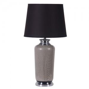 70's Chic Pattern Lamp Black Shade