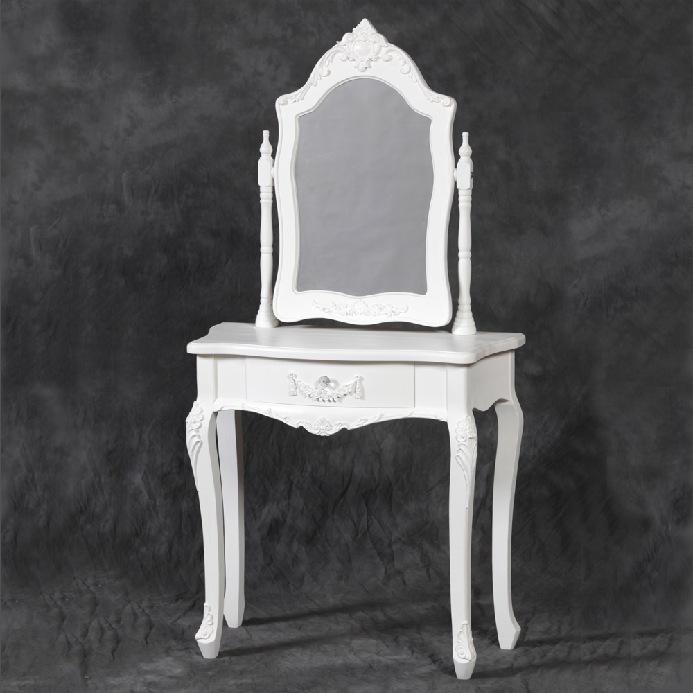 Small White Dressing Table With Mirror