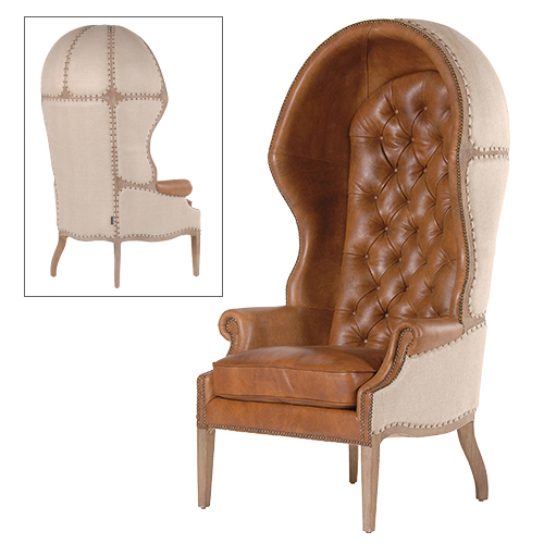 Brown Leather Porter's Chair