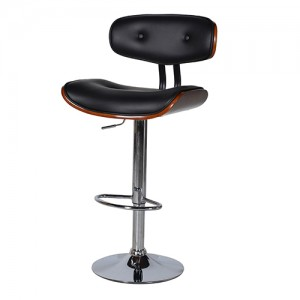 Black Seat Adj.Bar Stool