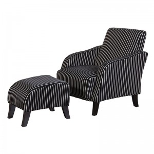 Pinstripe Chair/Footstool