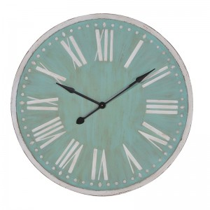 Round Green & White Clock- 92cm