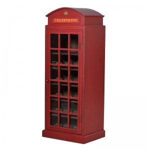 Red Phone Box Wine Cabinet