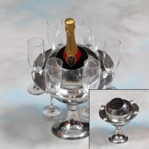 Polished Aluminium Ice Bucket/Champagne Cooler