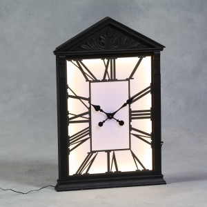 Wooden Framed Backlit Wall Clock