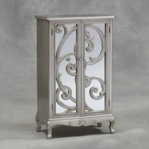 Antique Silver Double Cupboard Rococo Cabinet