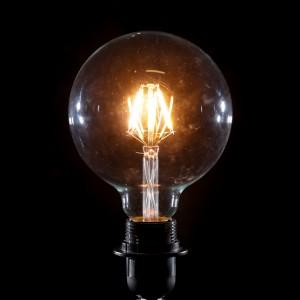 LED 6w Large Globe Retro Filament Bulb (B22 large bayonet)