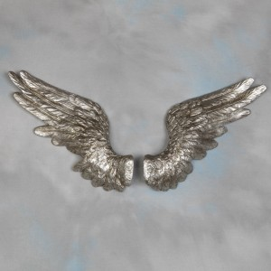 Pair of Silver Angel Wings Wall Décor