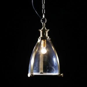 Brass and Glass Lantern Ceiling Light