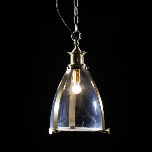 Brass and Glass Lantern Ceiling Light