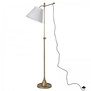 Brass Finish Fl Lamp with Shd