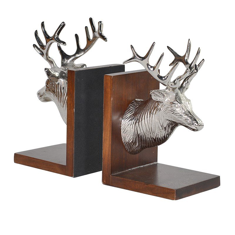 Stag 39 s head bookends the house in town - Stag book ends ...