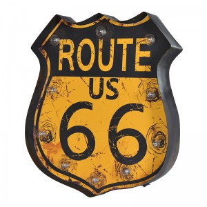 Route 66′ Wall Plaque Light