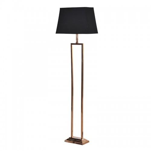 2 Leg Floor Lamp/Black Shade