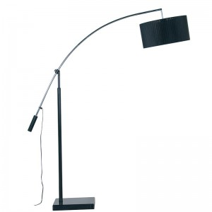 Black Organza Floor Lamp