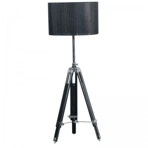 Black Organza Tripod Lamp