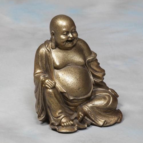 Gold Sitting Happy Buddha