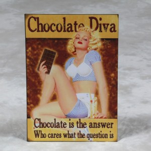 "Antiqued Metal ""Chocolate Diva"" Sign"