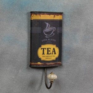Antiqued Tea Can Wall Hook