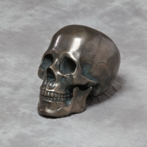 Antique Bronze Effect Skull Ornament