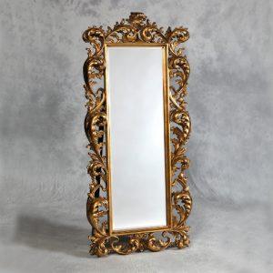 Gold Rococo Cheval Dressing Mirror