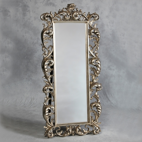 Silver Rococo Cheval Dressing Mirror The House In Town