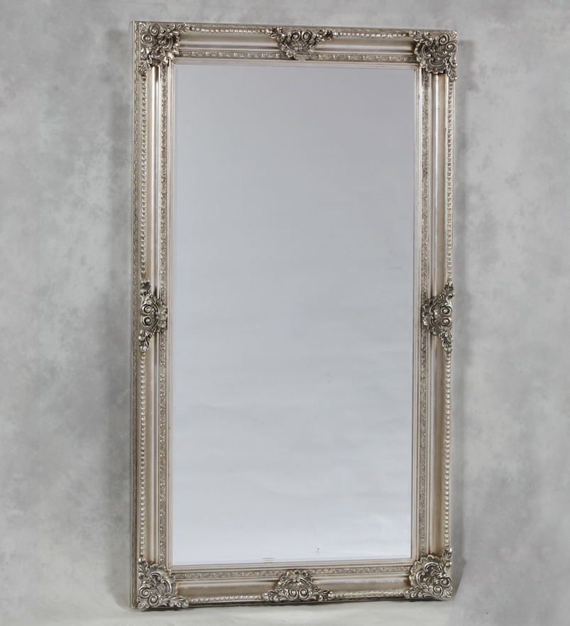 Extra Large Silver Rectangular Classic Mirror - The House ...