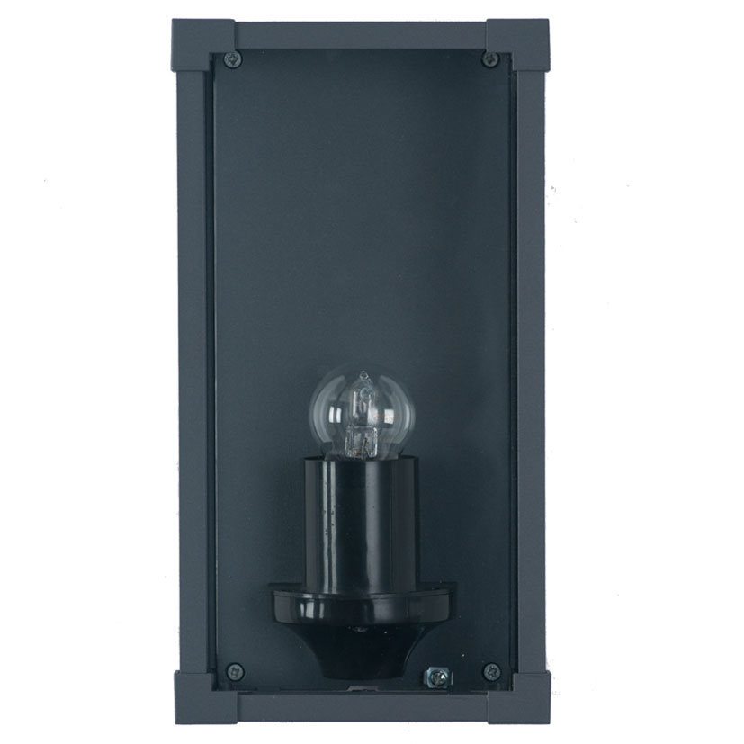 Wall Light Metal Box : Grey Metal & Glass Box Outdoor Wall Light - The House in Town