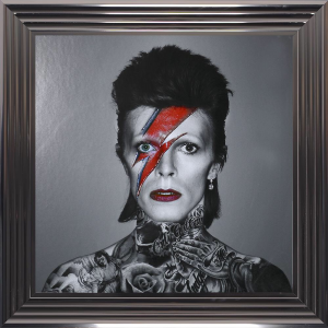 55 x 55 cm Bowie. Various Frame Colours Available