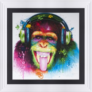9090-MUR-MONKEY HD-WHT