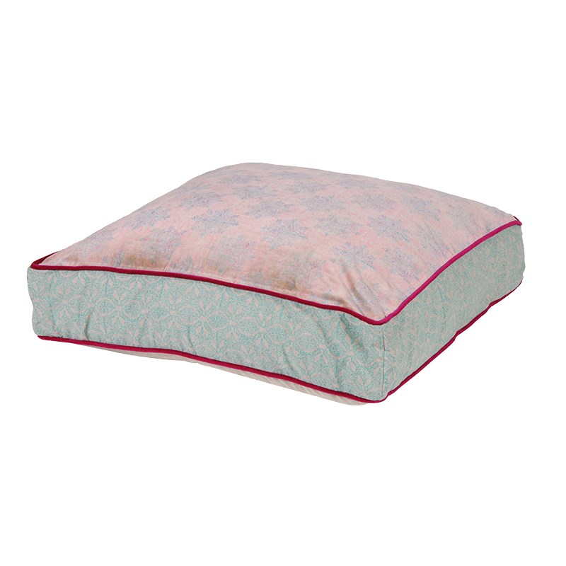 Pink/Blue Pattern Floor Cushion - The House in Town