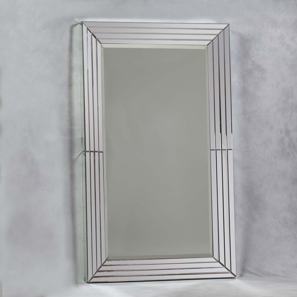 Extra Large Stepped Frame Venetian Mirror with Mirror Edges - The ...