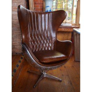 aviation-brown-leather-aluminium-chair